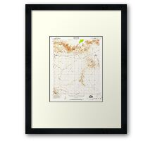 USGS TOPO Map California CA Chuckwalla Spring 297101 1953 62500 geo Framed Print