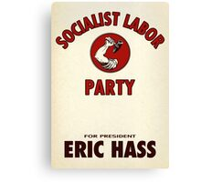 Socialist Labor Party 1956 Election Poster, Vector Recreation, Eric Hass Canvas Print
