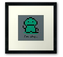 I'm shy - Earthbound Tenda Framed Print