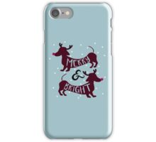 Merry & Bright (Dachshund Sausage Dog) iPhone Case/Skin
