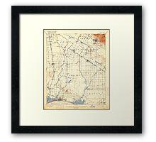 USGS TOPO Map California CA Downey 297329 1902 62500 geo Framed Print