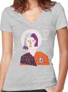 Who I am. T-shirt femme moulant col V