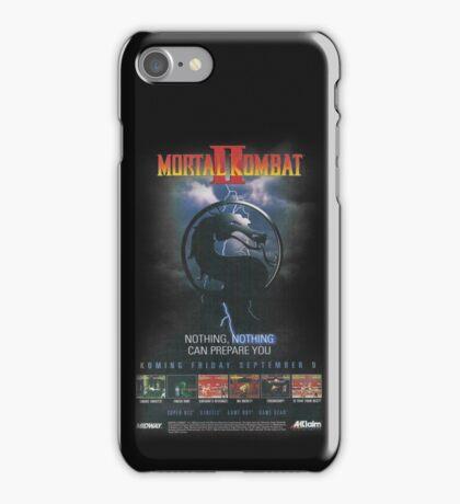VINTAGE Mortal Kombat II  iPhone Case/Skin