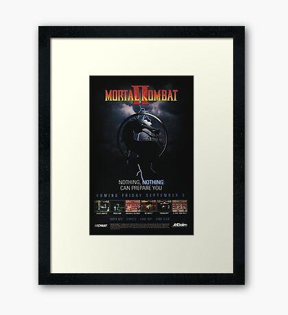 VINTAGE Mortal Kombat II  Framed Print
