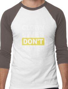 clown lives dont matter halloween scary  Men's Baseball ¾ T-Shirt