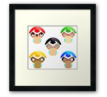 Voltron, all paladins with eyes Framed Print