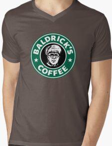 Baldrick's Coffee - Large Logo Mens V-Neck T-Shirt