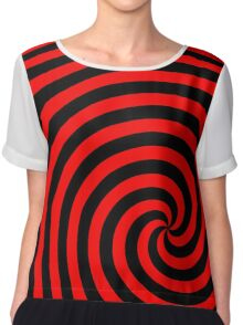 Retro pop art mod swirl design Chiffon Top