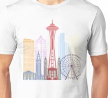 Seattle skyline poster Unisex T-Shirt