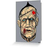 ZOMBIE TRUCKER Greeting Card