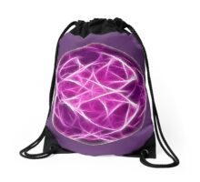Abstract fractal shape with soft lines Drawstring Bag