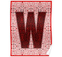 """PLAY OFF """"W"""" PATTERN Poster"""