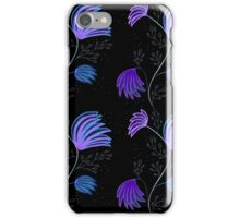 Blue and Purple Floral design iPhone Case/Skin