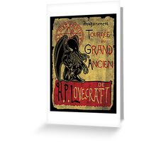 Tournee du grand ancien Greeting Card