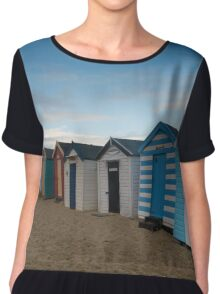 Beach Huts at Southwold Pier Chiffon Top
