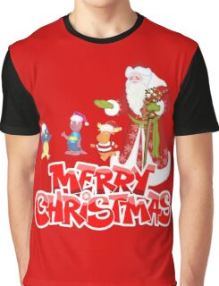Merry Christmas Santa and Kids Graphic T-Shirt