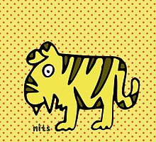 Nits ... for Kids - Tiger cushions by aint-no-zombie