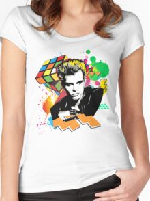 Billy Idol 80's Women's Fitted Scoop T-Shirt