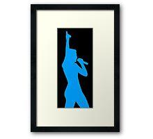 blue Halsey Framed Print