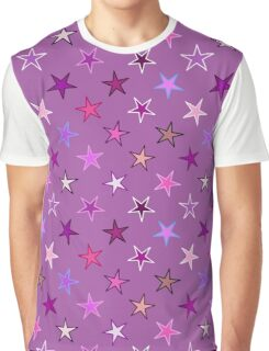 Twinkling Stars, Violet, Plum and Pink Graphic T-Shirt