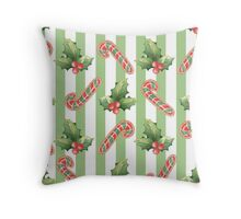 Watercolor Christmas seamless pattern Throw Pillow