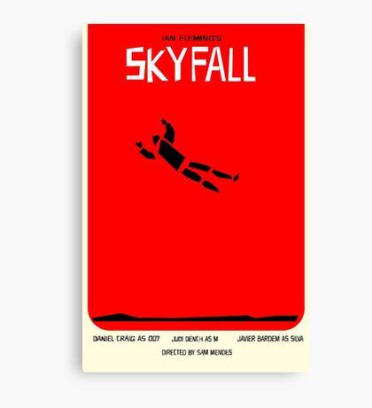 Saul Bass inspired Skyfall poster  Canvas Print