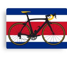 Bike Flag Costa Rica (Big - Highlight) Canvas Print