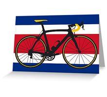 Bike Flag Costa Rica (Big - Highlight) Greeting Card