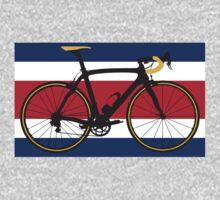Bike Flag Costa Rica (Big - Highlight) One Piece - Long Sleeve