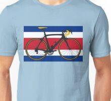Bike Flag Costa Rica (Big - Highlight) Unisex T-Shirt