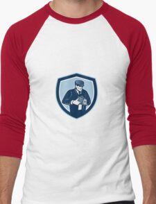 Photographer Shooting Vintage Camera Retro Men's Baseball ¾ T-Shirt