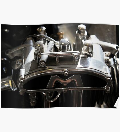 Classic vintage motorbike part, home decor, gifts for him and accessories Poster