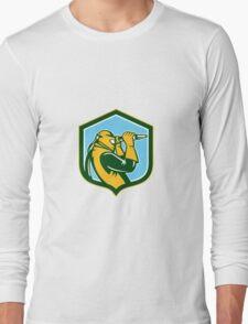 Sandblaster Sandblasting Hose Shield Retro Long Sleeve T-Shirt