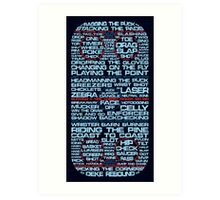 Ice Hockey Rink Typographic  Art Print