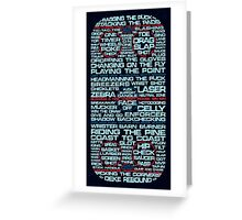 Ice Hockey Rink Typographic  Greeting Card