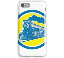 Steam Train Locomotive Circle Retro iPhone Case/Skin