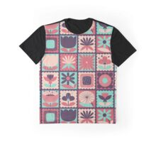 Folky Floral Stamps Graphic T-Shirt