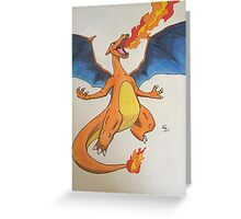 not a dragon Greeting Card