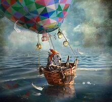 """""""Balloonist"""" by Matylda  Konecka Art"""