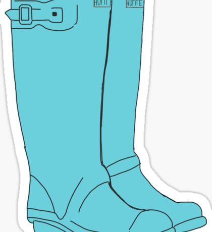 Blue Hunter Boots  Sticker