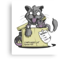 Schrödinger Cat Canvas Print