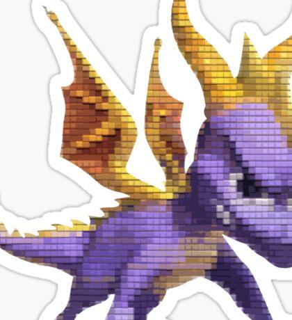 Spyro Voxel Sticker