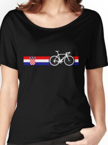 Bike Stripes Croatia Women's Relaxed Fit T-Shirt