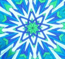 Blue-Green Mandala Colored by Ann Sticker