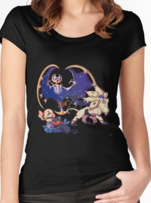 Pokemon Sun and Moon Women's Fitted Scoop T-Shirt