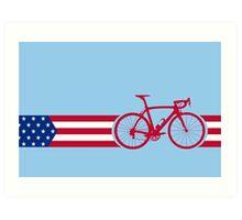 Bike Stripes USA v2 Art Print