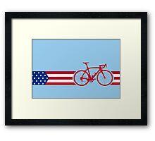 Bike Stripes USA v2 Framed Print