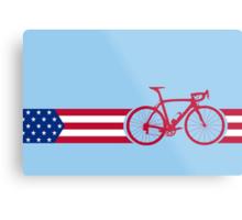 Bike Stripes USA v2 Metal Print