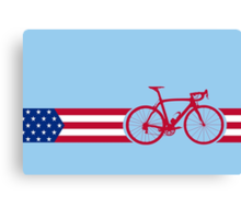 Bike Stripes USA v2 Canvas Print