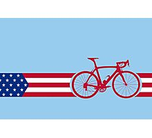Bike Stripes USA v2 Photographic Print